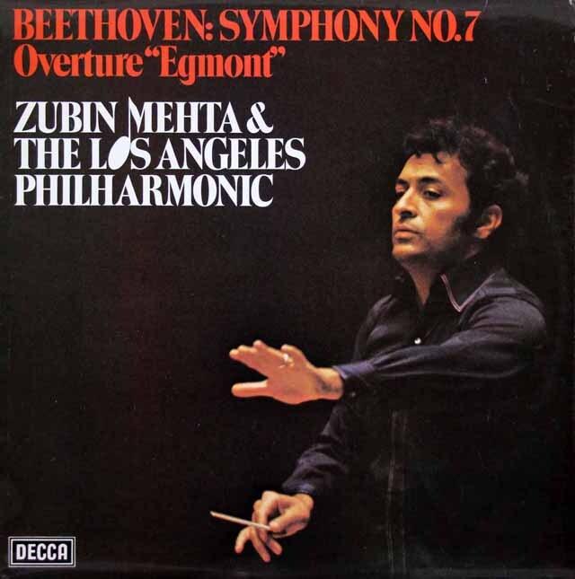 【オリジナル盤】 メータのベートーヴェン/交響曲第7番&「エグモント」序曲 英DECCA 3306 LP レコード