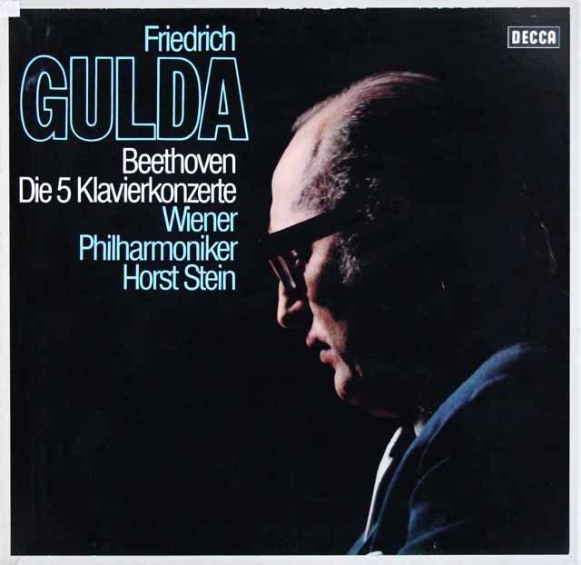 グルダ&シュタインののベートーヴェン/ピアノ協奏曲全集 独DECCA 3306 LP レコード