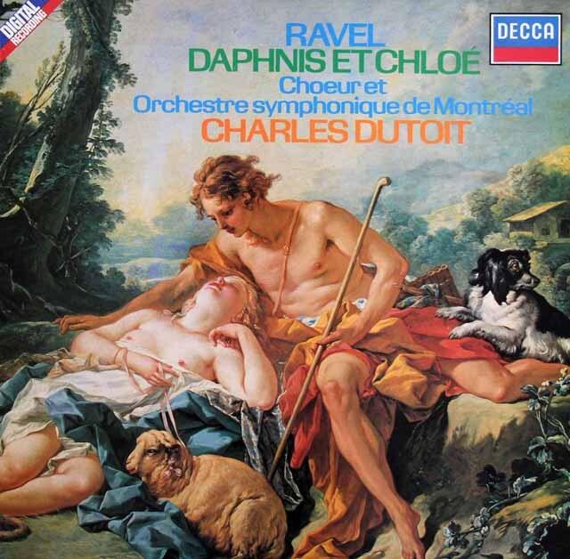 デュトワのラヴェル/「ダフニスとクロエ」 独DECCA 3306 LP レコード