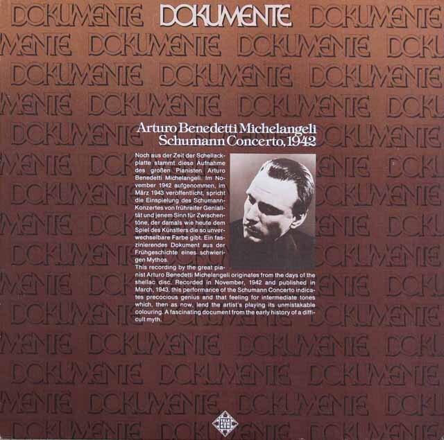 ミケランジェリのシューマン/ピアノ協奏曲(1942年録音) 独TELEFUNKEN 3306 LP レコード