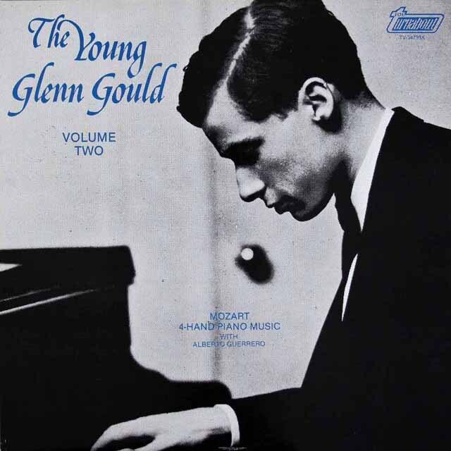 「若きグールド」第2巻 グールド&ゲレーロのモーツァルト/4手のためのピアノ曲ほか カナダturnabout 3306 LP レコード
