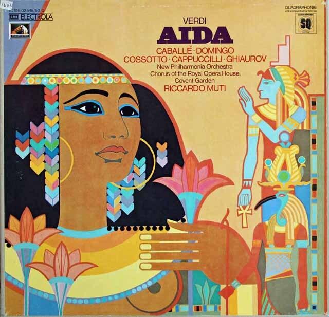 ムーティのヴェルディ/「アイーダ」 独EMI 3306 LP レコード