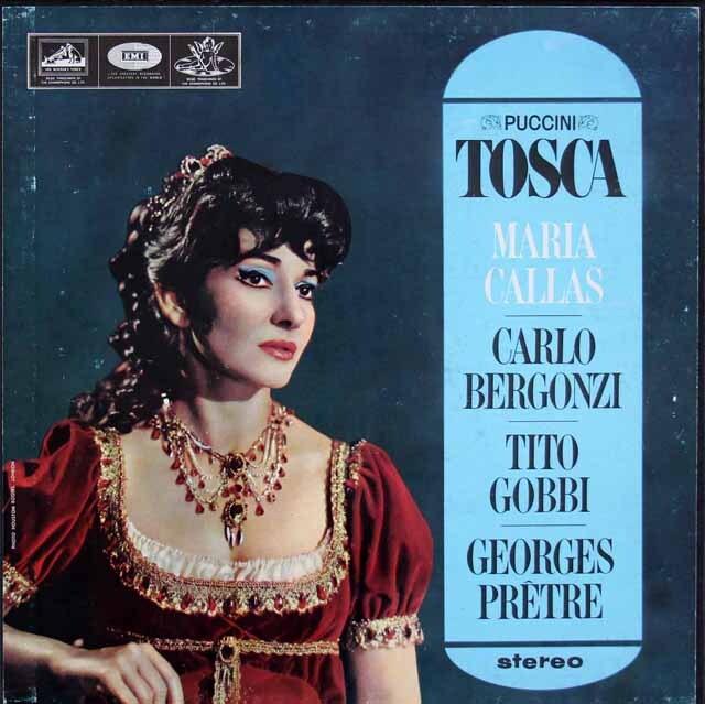 カラス&プレートルのプッチーニ/「トスカ」全曲 英EMI 3306 LP レコード