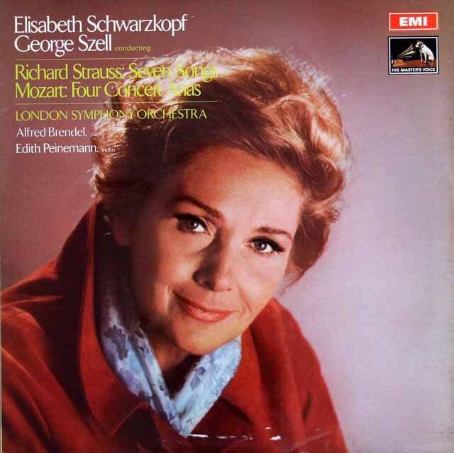 シュヴァルツコップ&セルのモーツァルト&R.シュトラウス/歌曲集 英EMI 3306 LP レコード