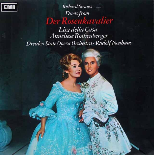 【オリジナル盤】 カーザ、ノイハウスのR.シュトラウス/「ばらの騎士」抜粋 英EMI(HMV) 3306 LP レコード