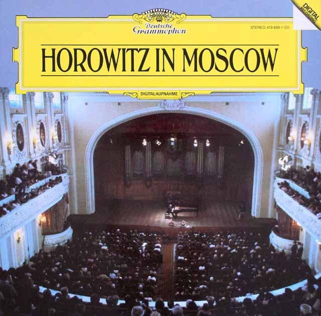 ホロヴィッツ/モスクワライヴ1986 独DGG 3306 LP レコード