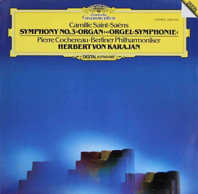 カラヤンのサン=サーンス/交響曲第3番「オルガン付き」 独DGG 3306 LP レコード