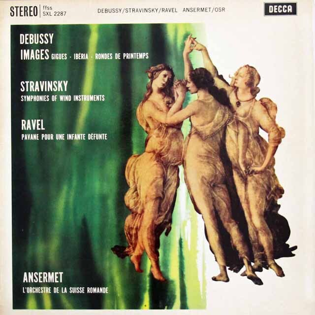 【オリジナル盤】 アンセルメのドビュッシー/「映像」ほか 英DECCA 3307 LP レコード