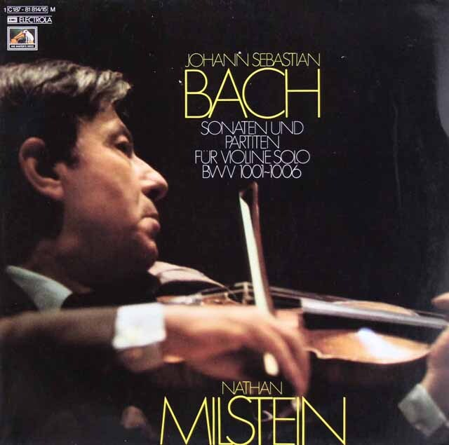 ミルシュタインのバッハ/無伴奏ヴァイオリンのためのソナタとパルティータ全曲   独EMI 3307 LP レコード