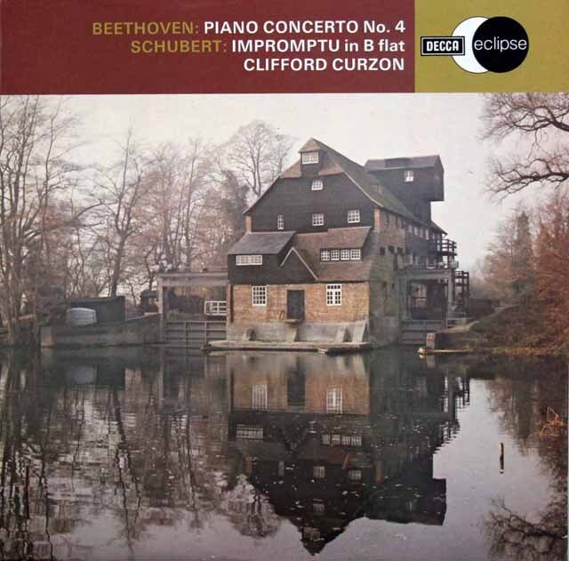 カーゾン & クナッパーツブッシュのベートーヴェン/ピアノ協奏曲第4番ほか 英DECCA 3307 LP レコード