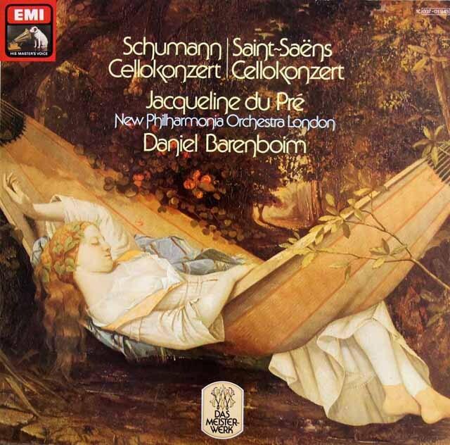 デュ・プレ&バレンボイムのシューマン/チェロ協奏曲ほか 独EMI 3307 LP レコード