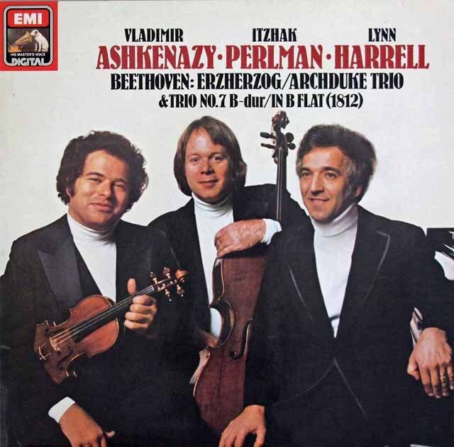 パールマン、アシュケナージ&ハレルのベートーヴェン/ピアノ三重奏曲「大公」ほか 独EMI  3307 LP レコード