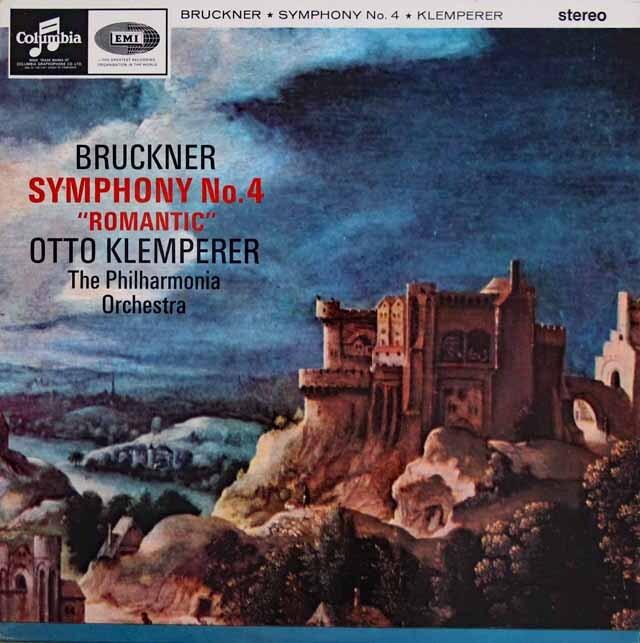 【オリジナル盤】 クレンペラーのブルックナー/交響曲第4番「ロマンティック」 英EMI 3307 LP レコード