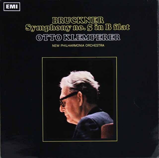 【オリジナル盤】 クレンペラーのブルックナー/交響曲第5番 英EMI 3307 LP レコード