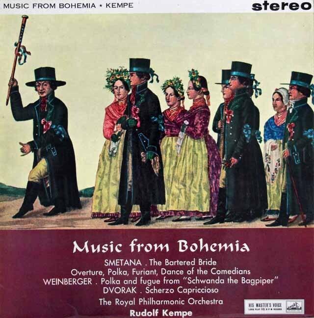 【オリジナル盤】 ケンペ/ミュージック・フロム・ボヘミア 英EMI 3307 LP レコード