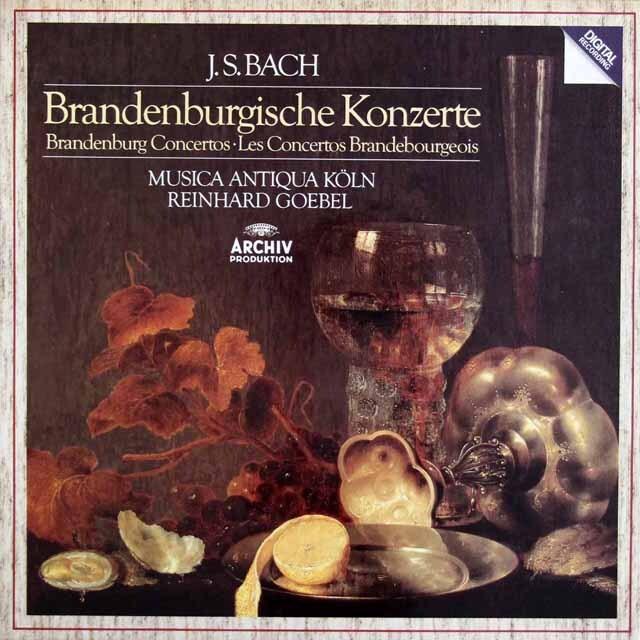 ムジカ・アンティクヮ・ケルンのバッハ/ブランデンブルク協奏曲集 独ARCHIV 3307 LP レコード