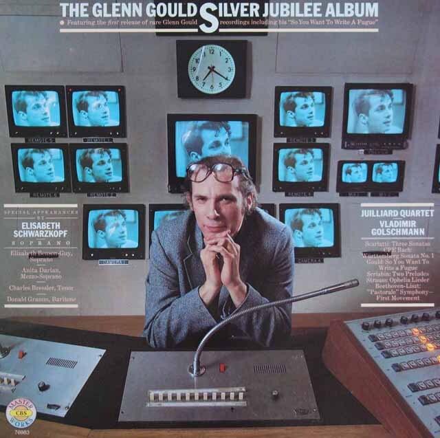 グールドのデビュー25周年記念アルバム 独CBS 3307 LP レコード