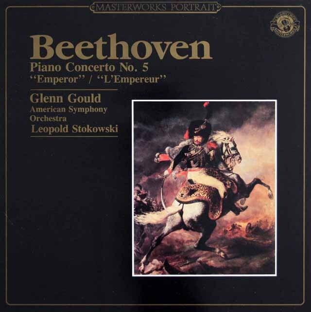 グールド&ストコフスキーのベートーヴェン/ピアノ協奏曲第5番「皇帝」 蘭CBS 3307 LP レコード