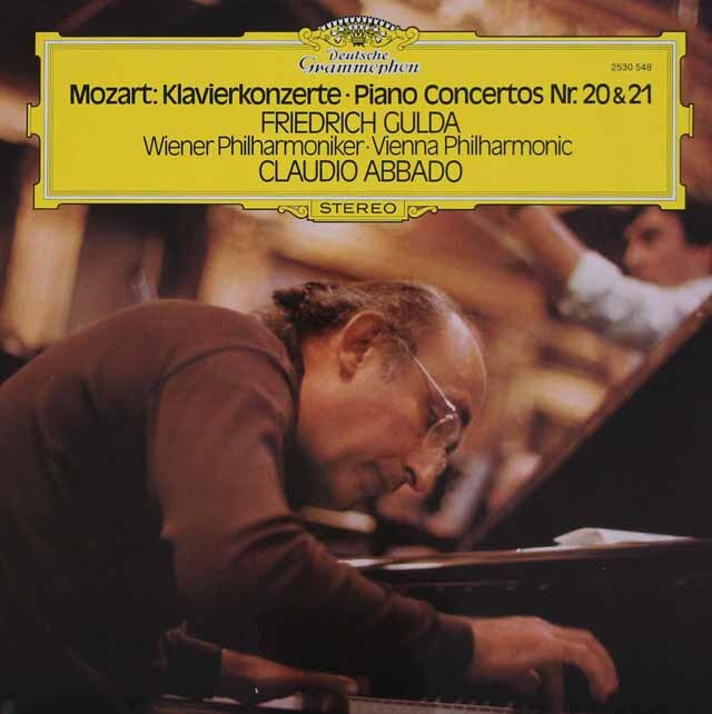 グルダ&アバドのモーツァルト/ピアノ協奏曲第20、21番 独DGG 3308 LP レコード