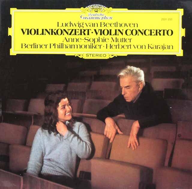 ムター&カラヤンのベートーヴェン/ヴァイオリン協奏曲 独DGG 3308 LP レコード
