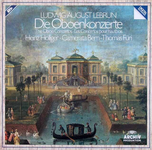 ホリガー&カメラータ・ベルンのルブラン/オーボエ協奏曲集 独ARCHIV 3308 LP レコード
