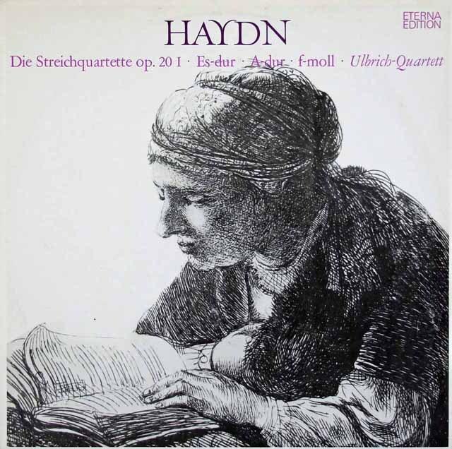 ウルブリヒ四重奏団のハイドン/太陽四重奏曲集(全6曲) 独ETERNA 3308 LP レコード