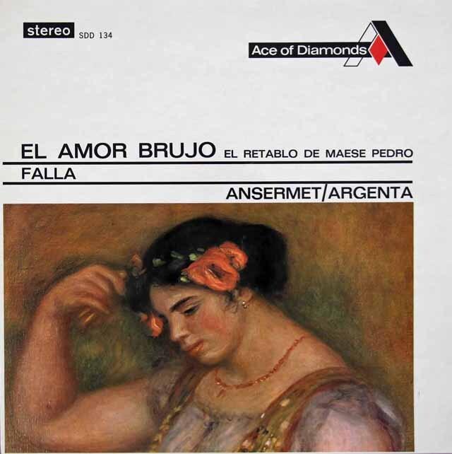 アンセルメ&アルヘンタのファリャ/「恋は魔術師」、「ペドロ親方の人形芝居」 英Ace of Diamonds(DECCA) 3308 LP レコード