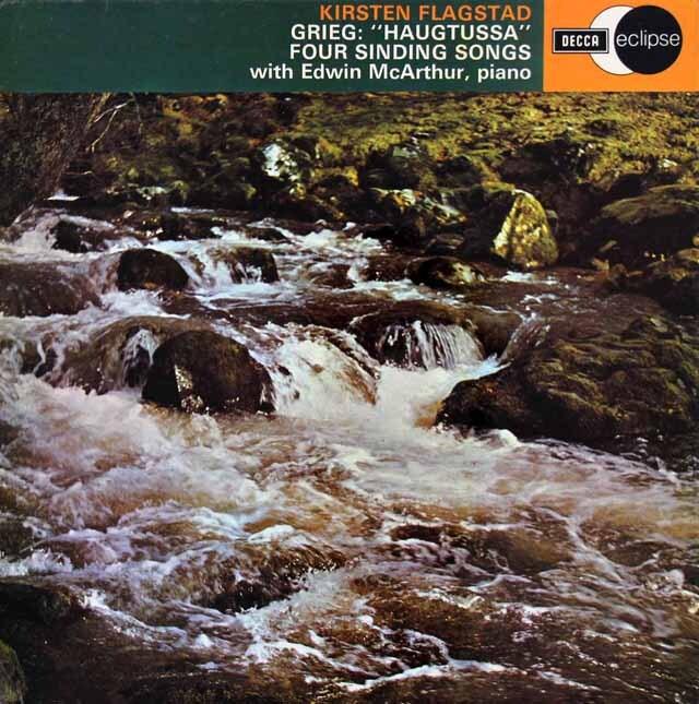 フラグスタートのグリーグ/連作歌曲集「山のおとめ」ほか 英DECCA 3308 LP レコード
