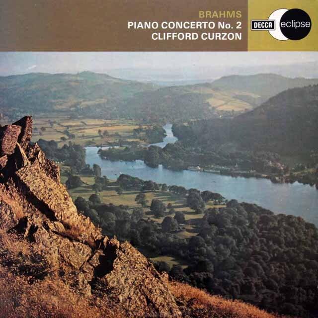 カーゾン&クナッパーツブッシュのブラームス/ピアノ協奏曲第2番 英DECCA 3308 LP レコード