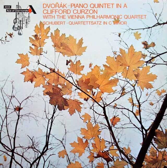 カーゾン&ウィーンフィル四重奏団のドヴォルザーク/ピアノ五重奏曲ほか 英DECCA 3308 LP レコード