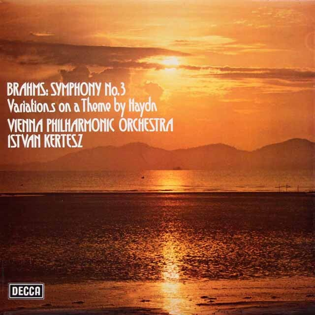 【オリジナル盤】 ケルテスのブラームス/交響曲第3番、ハイドンの主題による変奏曲 英DECCA 3308 LP レコード