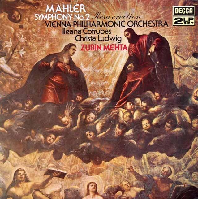 【オリジナル盤】 メータのマーラー/交響曲第2番「復活」 英DECCA 3308 LP レコード