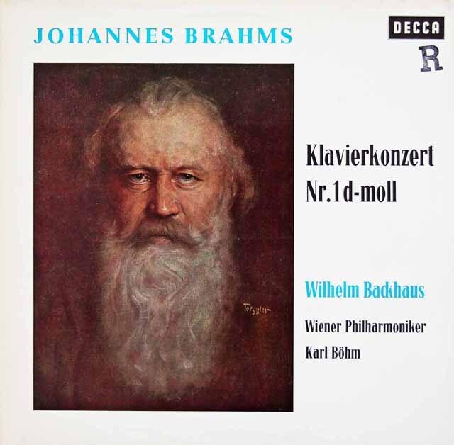 バックハウス&ベームのブラームス/ピアノ協奏曲第1番 独DECCA 3308 LP レコード