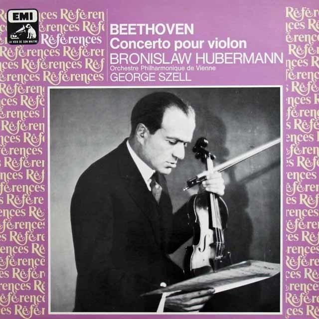 フーベルマン&セルのベートーヴェン/ヴァイオリン協奏曲 仏EMI(VSM) 3308 LP レコード