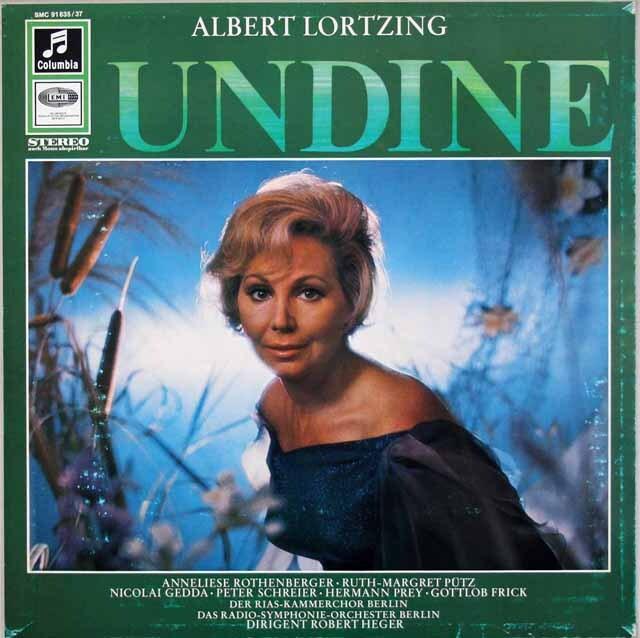 ローテンベルガー、ゲッダ、プライ、ヘーガーらのロルツィング/歌劇「ウンディーネ」 独Columbia 3308 LP レコード