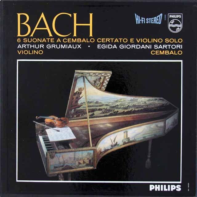グリュミオー&サルトリのバッハ/ヴァイオリンとチェンバロのためのソナタ集 蘭PHILIPS 3308 LP レコード
