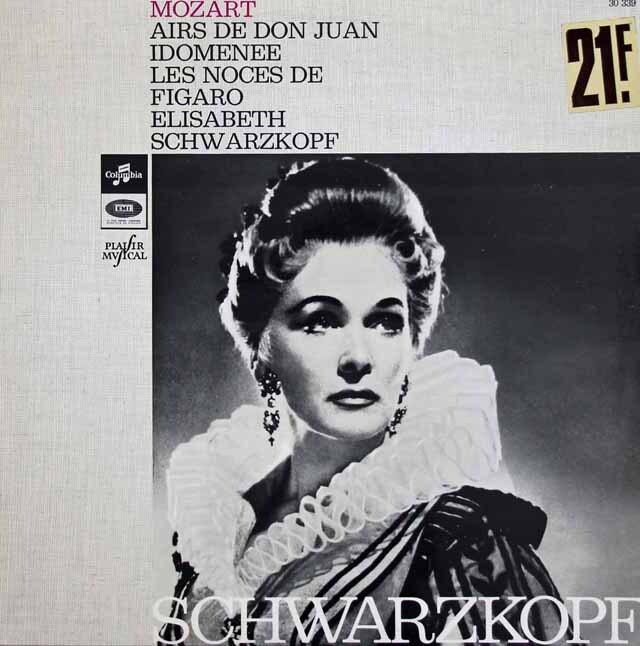 シュヴァルツコップのモーツァルト/アリア集 仏Columbia 3308 LP レコード