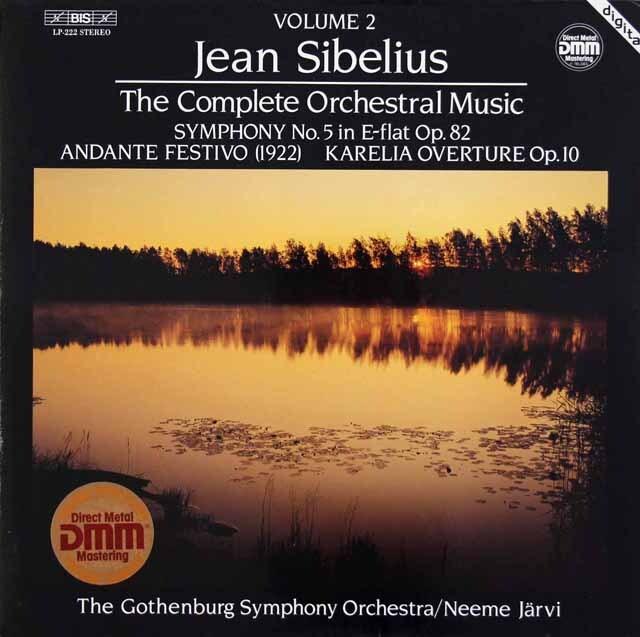 ヤルヴィのシベリウス/交響曲第5番ほか 独BIS 3308 LP レコード