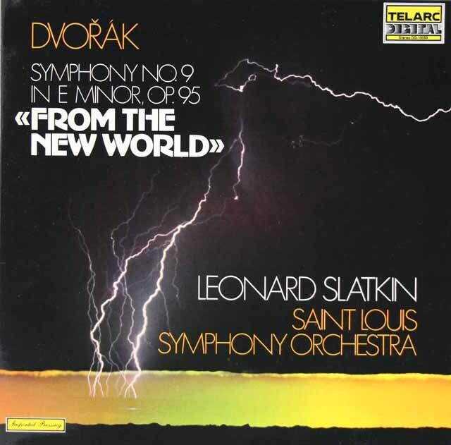 スラットキンのドヴォルザーク/交響曲第9番「新世界より」 独TELARC 3308 LP レコード
