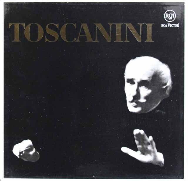 トスカニーニ名演集(ベートーヴェン、シューベルト、メンデルスゾーン、ブラームス、ウェーバー、ドヴォルザーク) 独RCA 3308 LP レコード