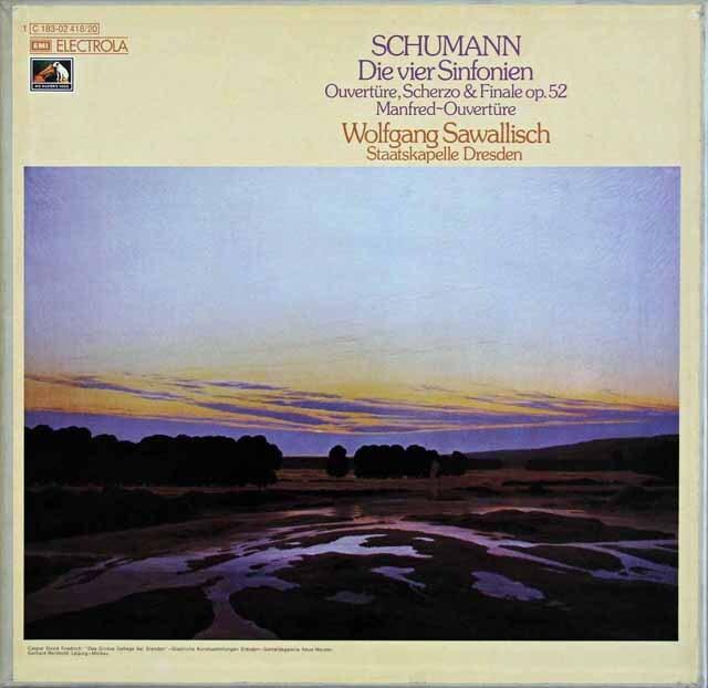 サヴァリッシュのシューマン/交響曲全集 独EMI 3308 LP レコード