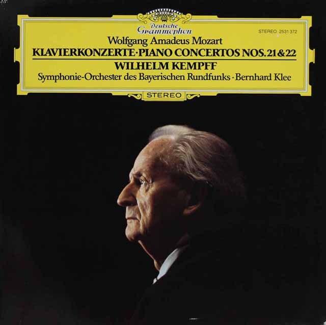 ケンプのモーツァルト/ピアノ協奏曲第21&22番 独DGG 3309 LP レコード