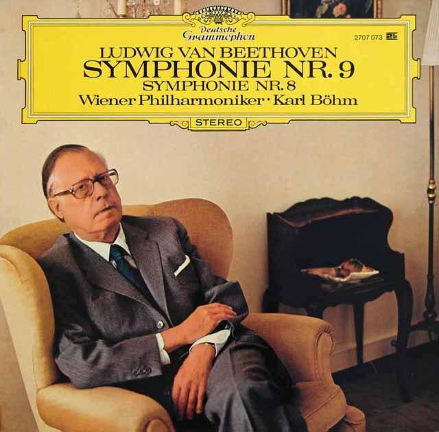 ベームのベートーヴェン/交響曲第8&9番「合唱付き」 独DGG 3309 LP レコード