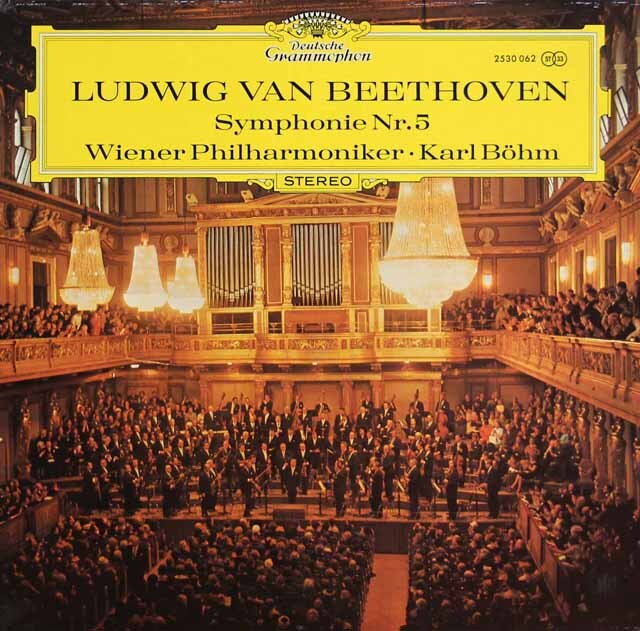 ベームのベートーヴェン/交響曲第5番「運命」 独DGG 3309 LP レコード