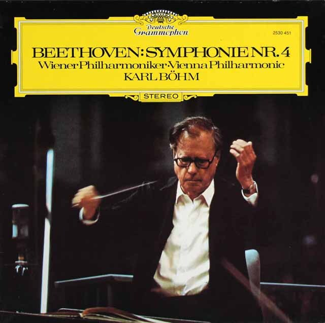 ベームのベートーヴェン/交響曲第4番 独DGG 3309 LP レコード