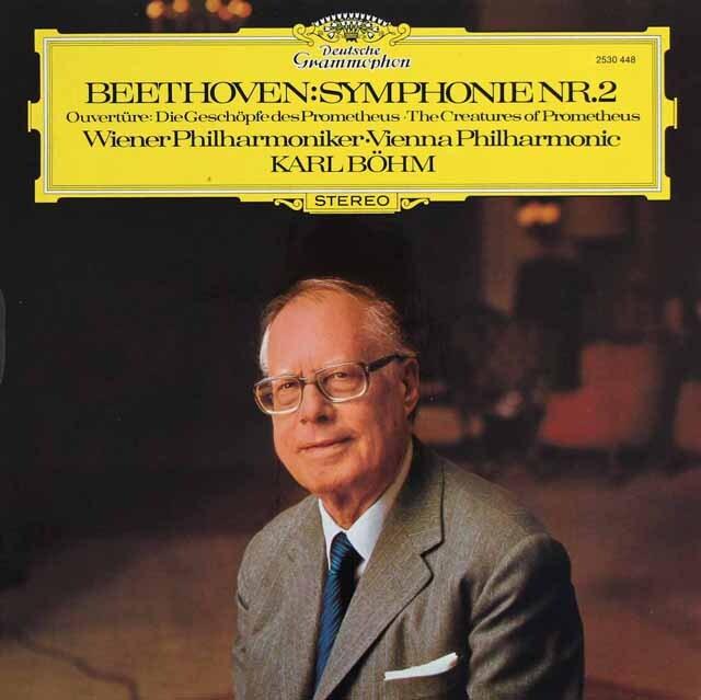ベームのベートーヴェン/交響曲第2番ほか 独DGG 3309 LP レコード