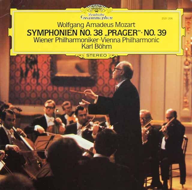 ベームのモーツァルト/交響曲第38番「プラハ」&39番 独DGG 3309 LP レコード