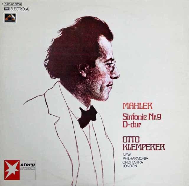 クレンペラーのマーラー/交響曲第9番 独EMI 3309 LP レコード