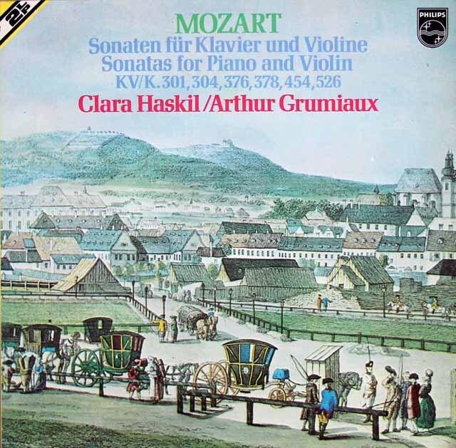 グリュミオー&ハスキルのモーツァルト/ヴァイオリン・ソナタ集 蘭PHILIPS 3309 LP レコード