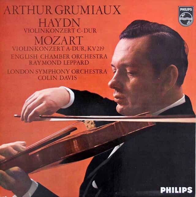 グリュミオーのハイドン&モーツァルト/ヴァイオリン協奏曲集 蘭PHILIPS 3309 LP レコード